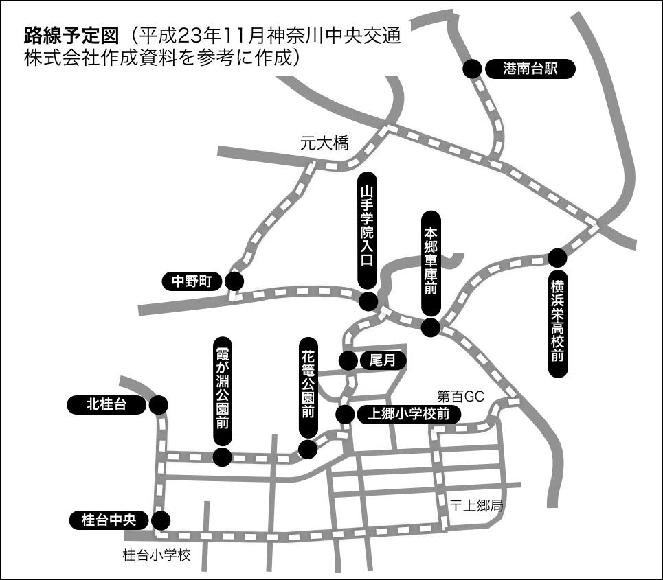 尾月バス運行予定表
